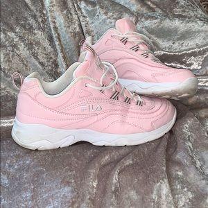 baby pink FILA sneakers 💕